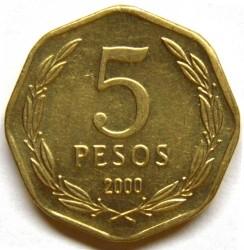 מטבע > 5פסו, 1992-2015 - צ'ילה  - reverse