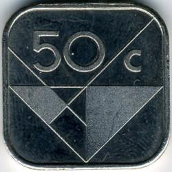 Minca > 50cents, 1986-2016 - Aruba  - reverse