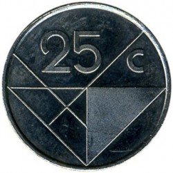 Монета > 25центов, 1986-2016 - Аруба  - obverse