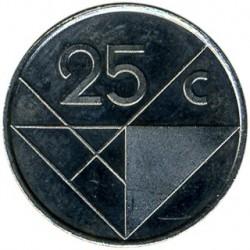 Монета > 25центов, 1986-2016 - Аруба  - reverse