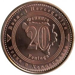 Munt > 20feninga, 1998-2017 - Bosnië en Herzegovina  - reverse