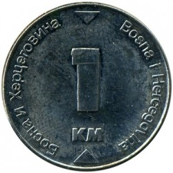 Coin > 1 marka, 2000-2017 - Bosnia and Herzegovina  - obverse