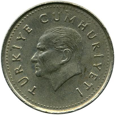 Coin 1 000 Lira 1990 1994 Turkey Obverse