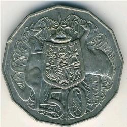 Moneta > 50centów, 1969-1984 - Australia  - obverse