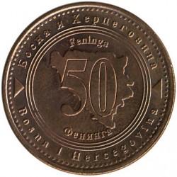 Монета > 50фенінгів, 1998-2017 - Боснія і Герцеговина  - reverse