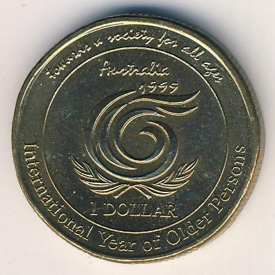 1 Dollar 1999 International Year Of Older Persons Australien