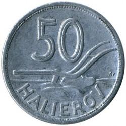 Minca > 50halierov, 1943-1944 - Slovensko  - reverse