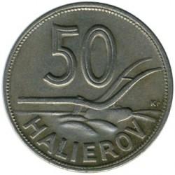 Minca > 50halierov, 1940-1941 - Slovensko  - reverse