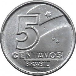 Monedă > 5centavo, 1989-1990 - Brazilia  - obverse