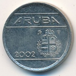 Moneda > 5centavos, 2002 - Aruba  - reverse