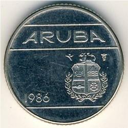 Moneta > 10centų, 1986 - Aruba  - obverse