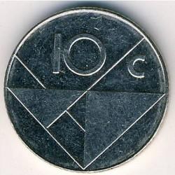 Moneda > 10centavos, 2000 - Aruba  - reverse