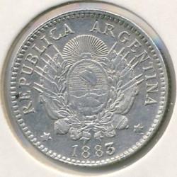 Pièce > 10centavos, 1881-1883 - Argentine  - obverse