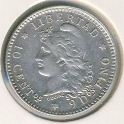 Pièce > 10centavos, 1881-1883 - Argentine  - reverse