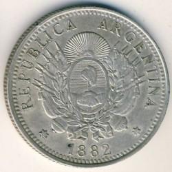 Pièce > 50centavos, 1881-1883 - Argentine  - obverse