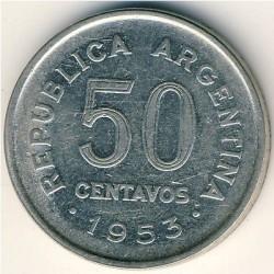Pièce > 50centavos, 1952-1956 - Argentine  - reverse