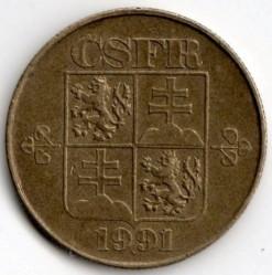 Moneta > 1korona, 1991-1992 - Czechosłowacja  - obverse