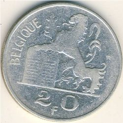 Монета > 20франка, 1949-1955 - Белгия  (Legend in French - 'BELGIQUE') - obverse