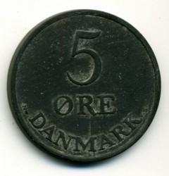 Coin > 5ore, 1950 - Denmark  - reverse