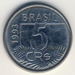 מטבע > 5קרוזאירוריאל, 1993-1994 - ברזיל  - reverse