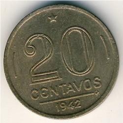 Coin > 20centavos, 1942-1943 - Brazil  - reverse