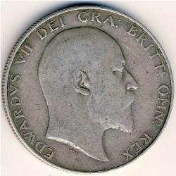 Кованица > ½круне, 1902-1910 - Уједињено Краљевство  - reverse