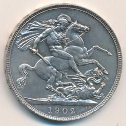 Кованица > 1круна, 1902 - Уједињено Краљевство  - reverse