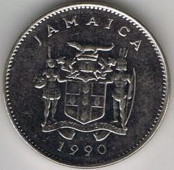 Pièce > 10cents, 1990 - Jamaïque  - obverse