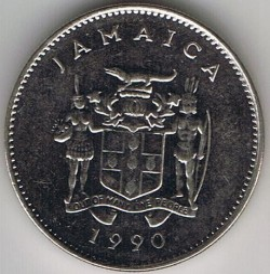 Pièce > 10cents, 1990 - Jamaïque  - reverse