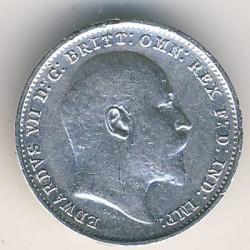 Кованица > 3пенија, 1902-1910 - Уједињено Краљевство  - obverse