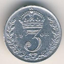 Кованица > 3пенија, 1902-1910 - Уједињено Краљевство  - reverse