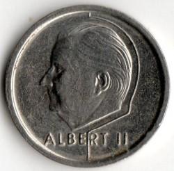 "Minca > 1frank, 1994-2001 - Belgicko  (Názov vo francúzštine - ""BELGIQUE"") - obverse"