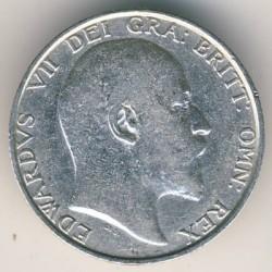 Кованица > 1шилинг, 1902-1910 - Уједињено Краљевство  - obverse
