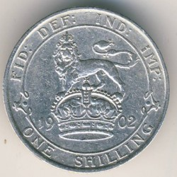Moneta > 1szyling, 1902-1910 - Wielka Brytania  - obverse