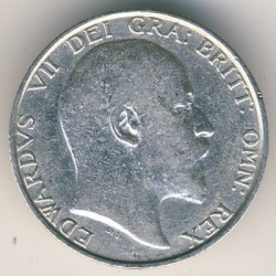 Кованица > 1шилинг, 1902-1910 - Уједињено Краљевство  - reverse