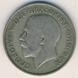 Minca > 1shilling, 1920-1926 - Veľká Británia  - obverse
