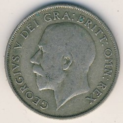 Minca > 1shilling, 1920-1926 - Veľká Británia  - reverse
