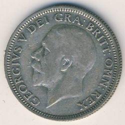 Minca > 1shilling, 1927-1936 - Veľká Británia  - obverse
