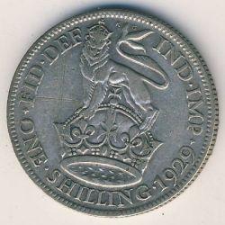 Minca > 1shilling, 1927-1936 - Veľká Británia  - reverse