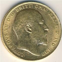 Moneta > 1funt(suweren), 1902-1910 - Wielka Brytania  - obverse