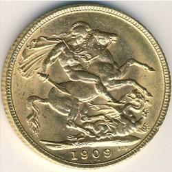 Moneta > 1funt(suweren), 1902-1910 - Wielka Brytania  - reverse