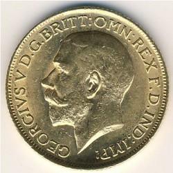 Монета > 1фунт(соверен), 1911-1925 - Великобритания  - obverse