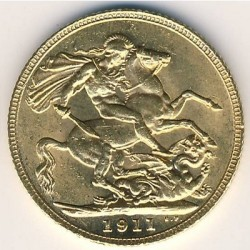 Moneda > 1pound(sovereign), 1911-1925 - Regne Unit  - obverse