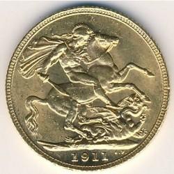 Munt > 1pound(sovereign), 1911-1925 - Verenigd Koninkrijk  - reverse