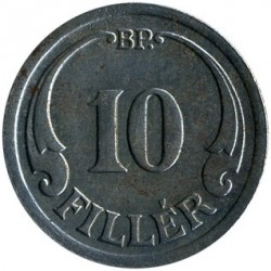 Munt > 10filler, 1940-1942 - Hongarije  - obverse