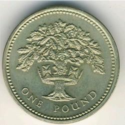 Munt > 1pound, 1987-1992 - Verenigd Koninkrijk  - reverse