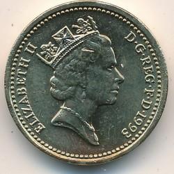 Munt > 1pound, 1993 - Verenigd Koninkrijk  - obverse