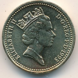 Munt > 1pound, 1993 - Verenigd Koninkrijk  - reverse