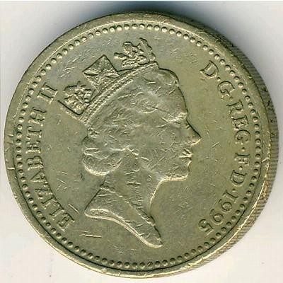 1 Pfund 1995 Vereinigtes Königreich Münzen Wert Ucoinnet