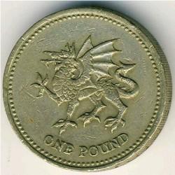 Coin > 1pound, 1995 - United Kingdom  - reverse
